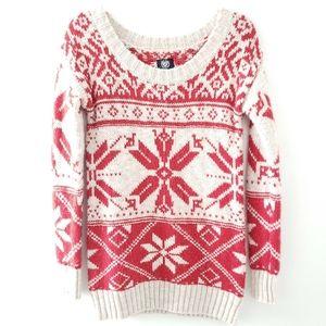 AEO Nordic Sweater Tunic Snowflake Wool, Alpaca